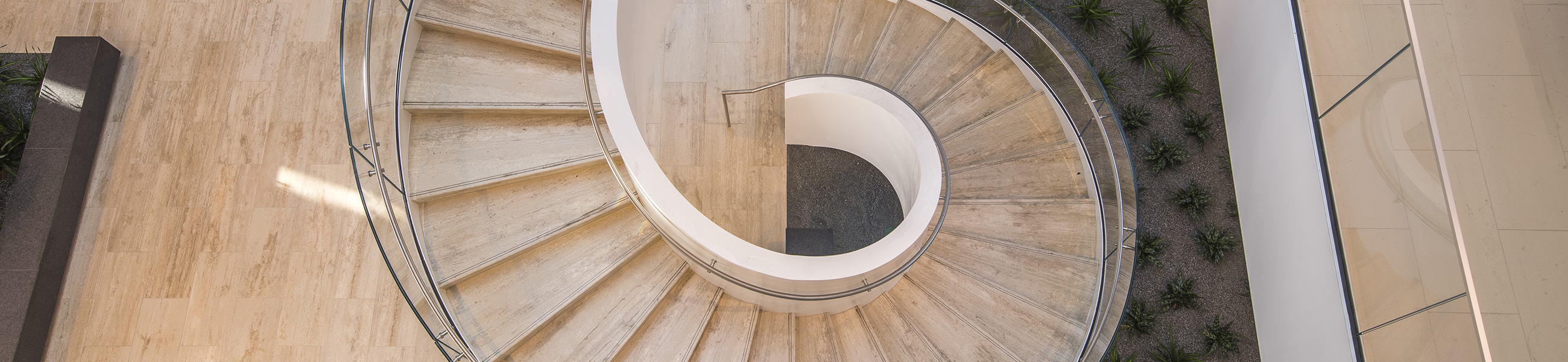 winding spiral staircase