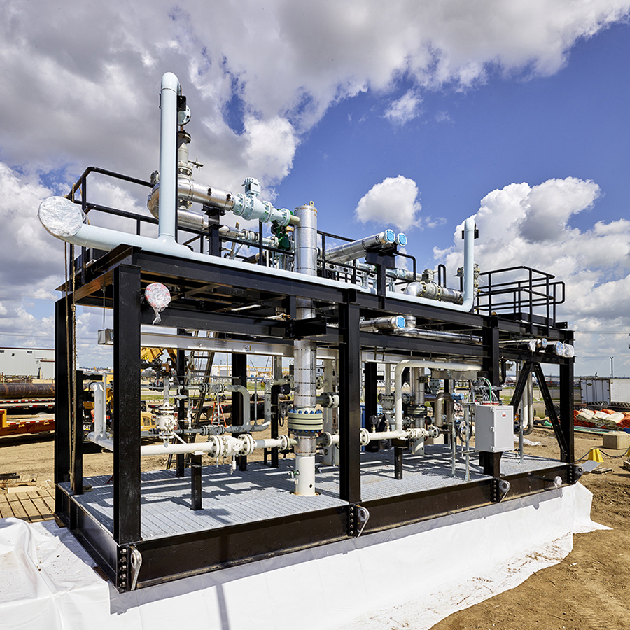 industrial modular gas skid