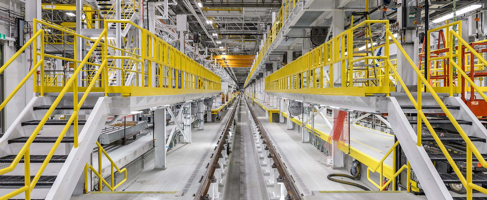 East Rail Maintenance Facility interior